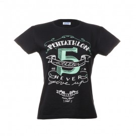 "Women T-Shirt - Black ""Pentathlon 5"""