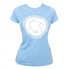 "Women T-Shirt - Sky ""Round Logo"""