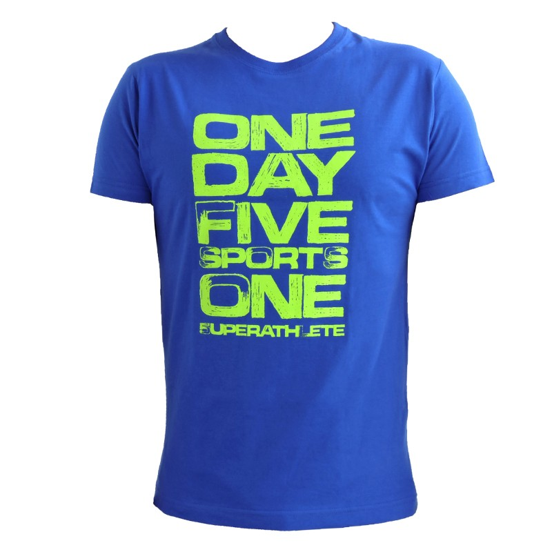 "Men T-Shirt - Royal Blue ""One Day Five Sports"""