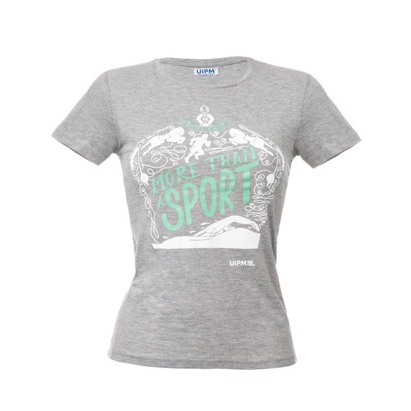 """Women T-Shirt - Grey """"More Than A Sport"""""""