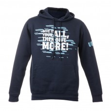 """Man hodded Sweatshirt - Navy Blue """"Give it your all then give more"""""""
