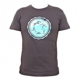 """Men T-Shirt - Dark Lead """"Round Logo"""""""