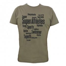 """Men T-Shirt - Army Green """"5UPER"""""""