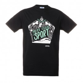 "Unisex T-Shirt - Black ""More than a sport"""