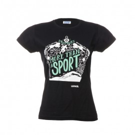 "Women T-Shirt - Black ""More than a sport"""