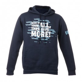 "Man hodded Sweatshirt - Navy Blue ""Give it your all then give more"""