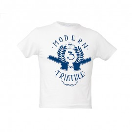 "Kids T-Shirt - White ""Modern Triathle Kids"""