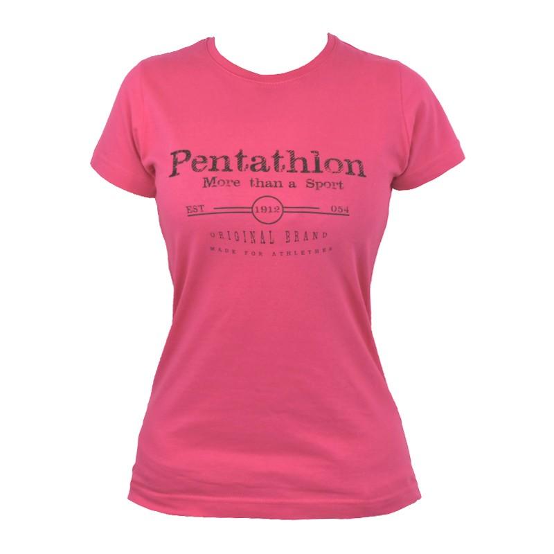 """Women T-Shirt - Pink """"Pentathlon More Than a Sport """""""