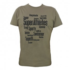 "Men T-Shirt - Army Green ""5UPER"""
