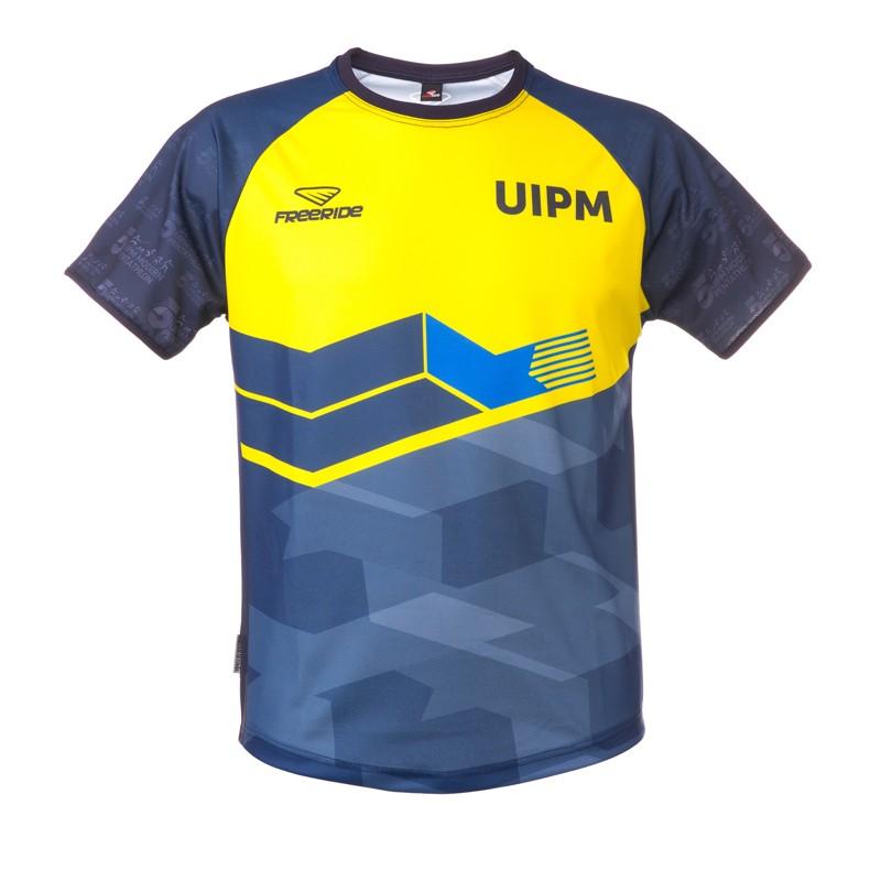 男士功能性T恤 深藍色/黃色款