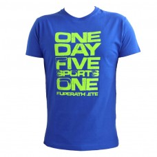 "Men T-Shirt - Royal Blue ""One Day Five Sports"""