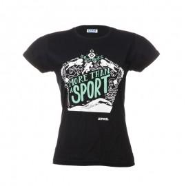 """黑色女士T恤- """"More than a sport"""""""