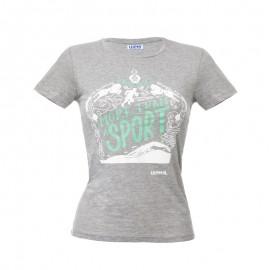 """灰色女士T恤- """"More than a sport"""""""