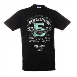 """黑色中性T恤-""""Pentathlon 5"""""""