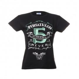 """黑色女士T恤-""""Pentathlon 5"""""""
