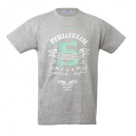 """灰色中性T恤-""""Pentathlon 5"""""""